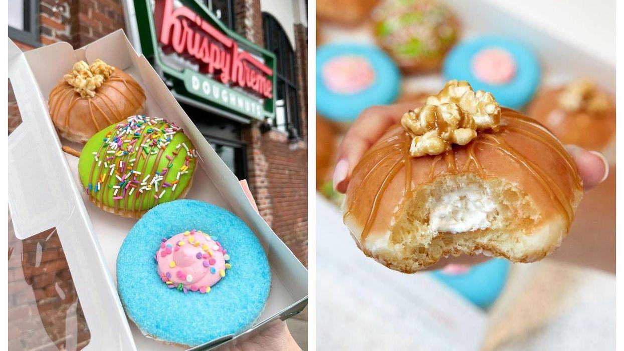 Krispy Kreme au Québec sort 3 nouveaux beignes dont un à la barbe à papa