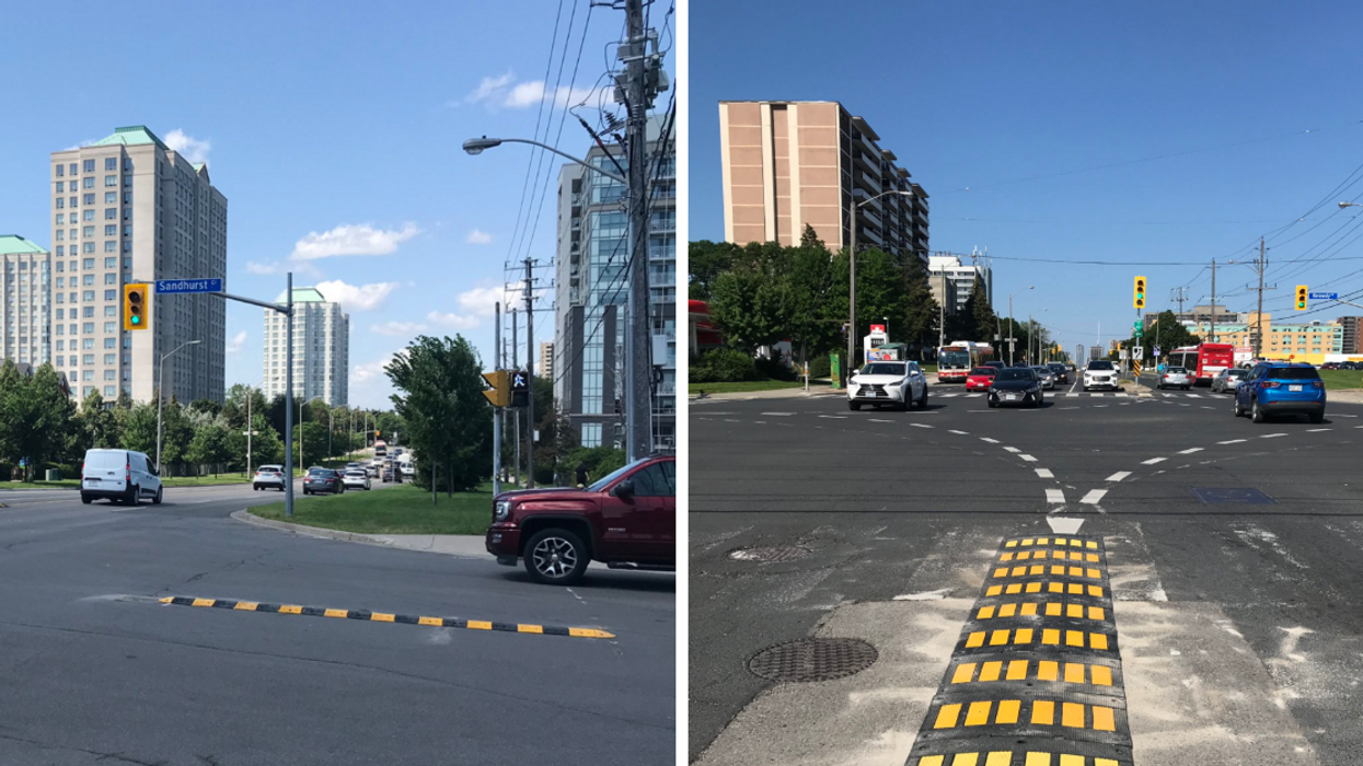 Toronto Drivers Are Getting Left Turn Help With These Bumper Rails