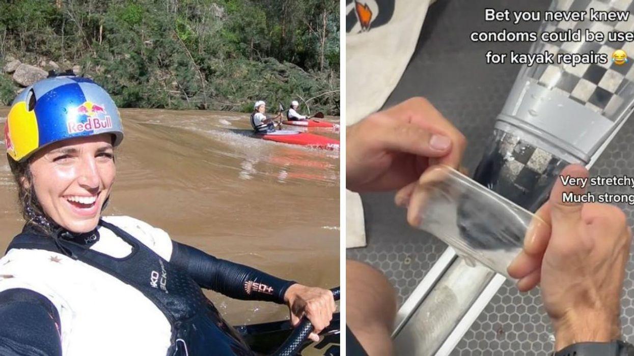 JO de Tokyo : Jessica Fox utilise un condom pour réparer son kayak