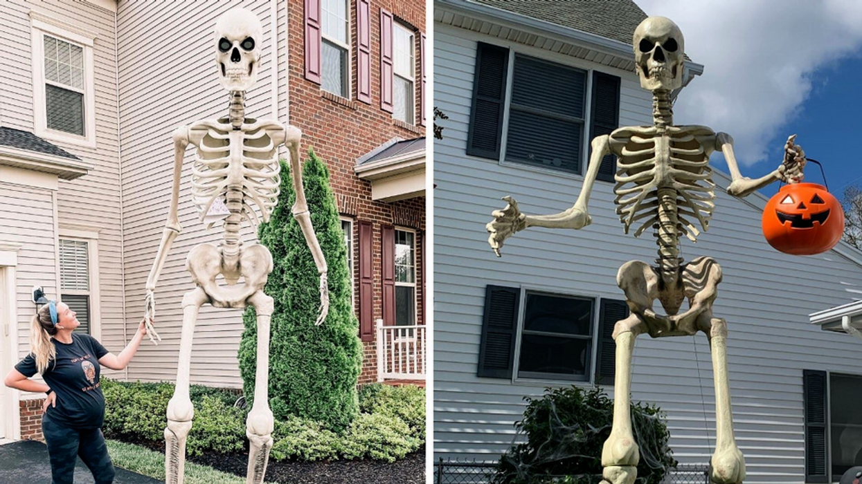 The Viral 12-Foot Skeleton Is Back At Home Depot & You Can Buy It Now