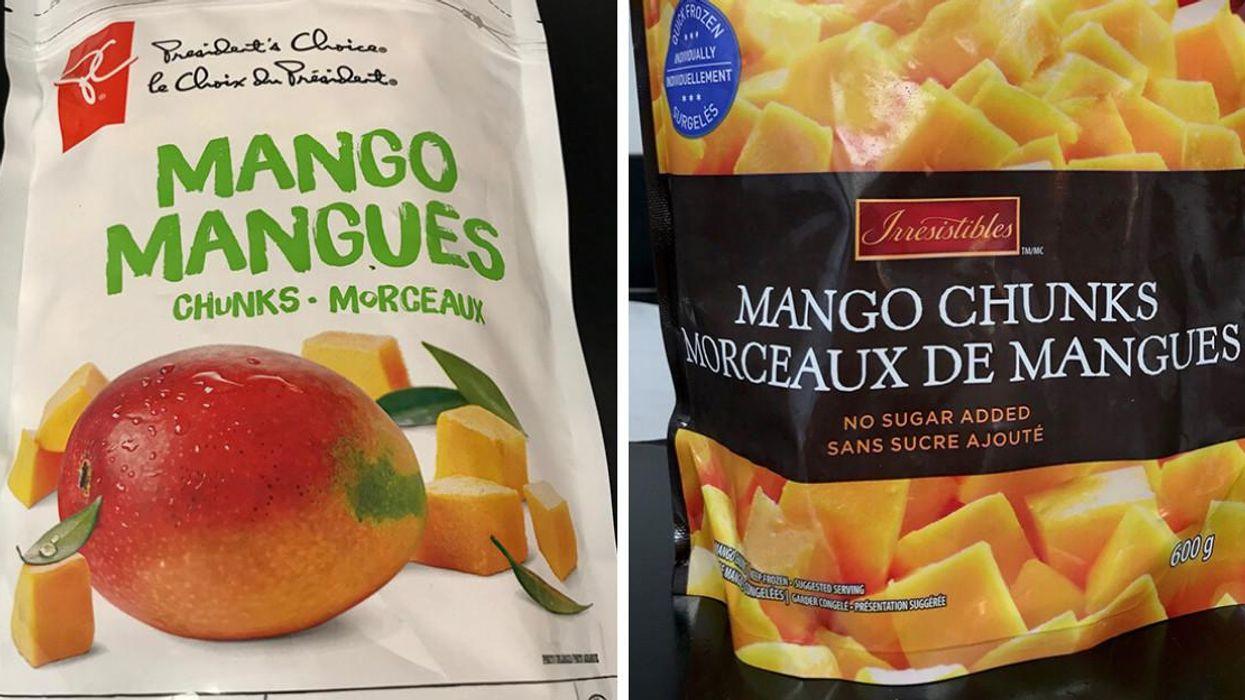 Rappel de mangues congelées au Canada à cause d'un virus