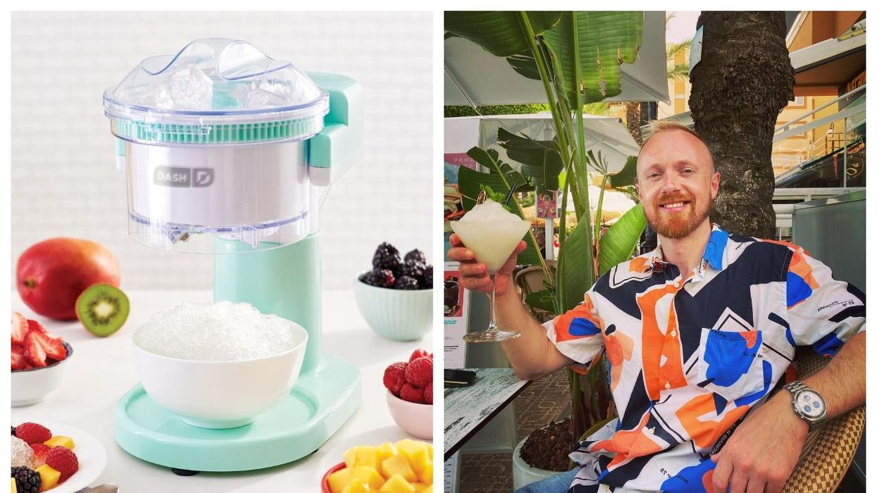 The Dash Shaved Ice Maker From Indigo Comes In A Cute Colour & Is Perfect For Summer Parties