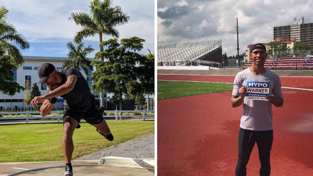 Cette photo de Damian Warner au décathlon devient virale