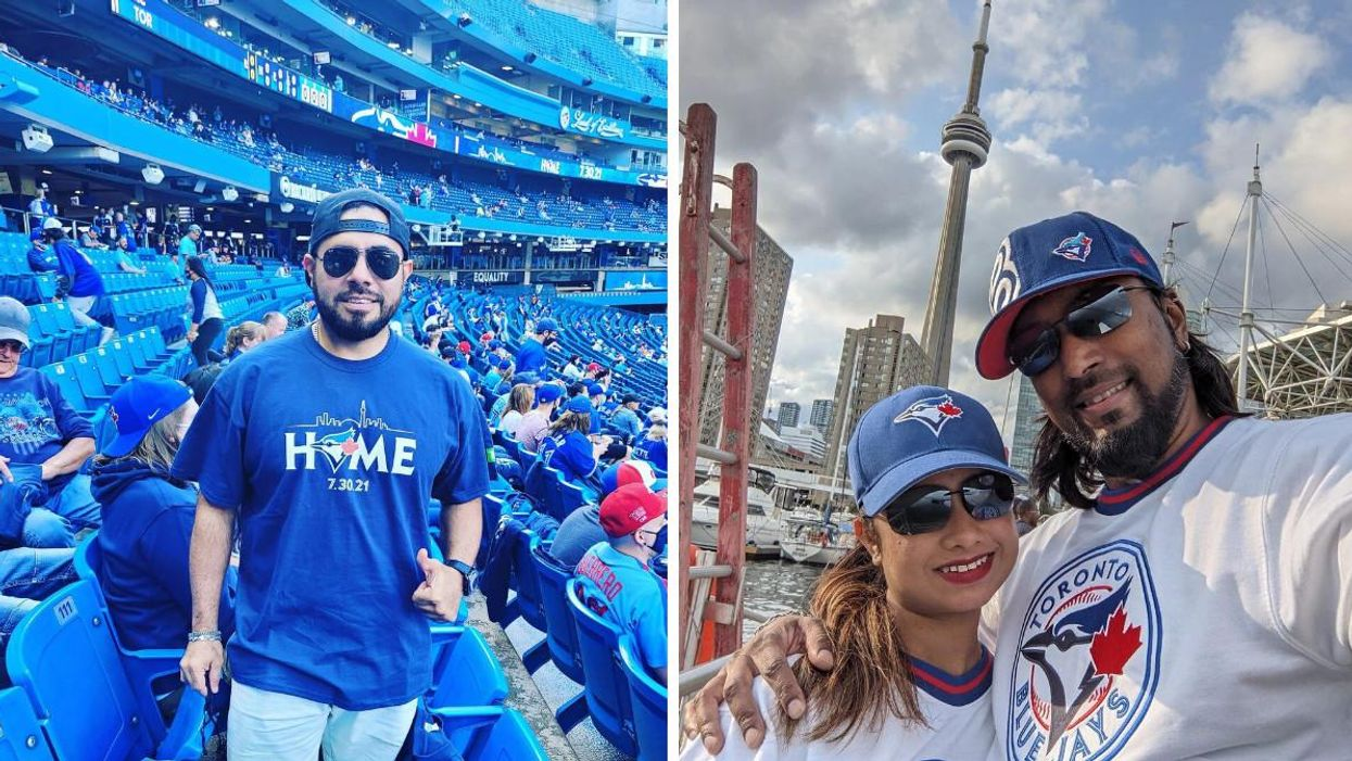 If you're looking to support the Toronto Blue Jays with new merch, Sport Chek has a ton of official gear on sale right now.