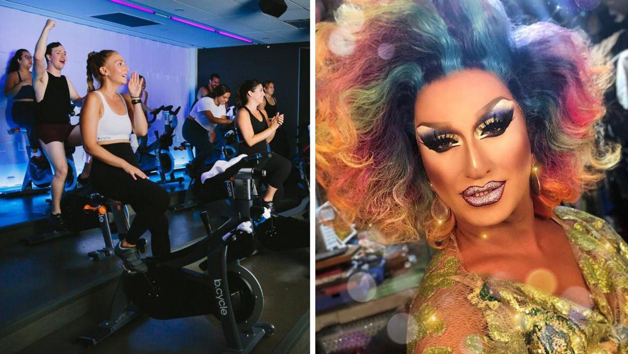 Fierté Montréal : Un cours de spinning animé par une drag queen à Montréal