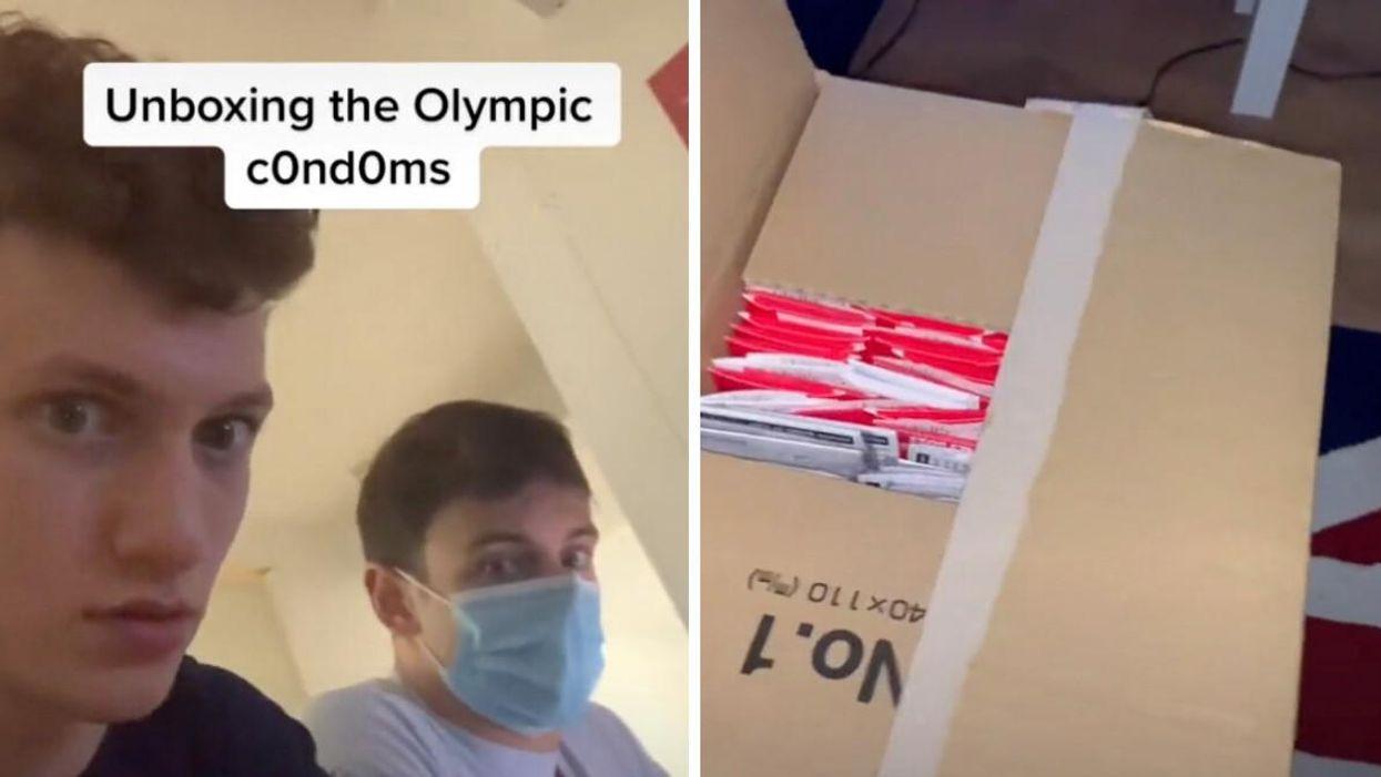 Les condoms aux JO de Tokyo montrés par Noah Williams et Tom Daley