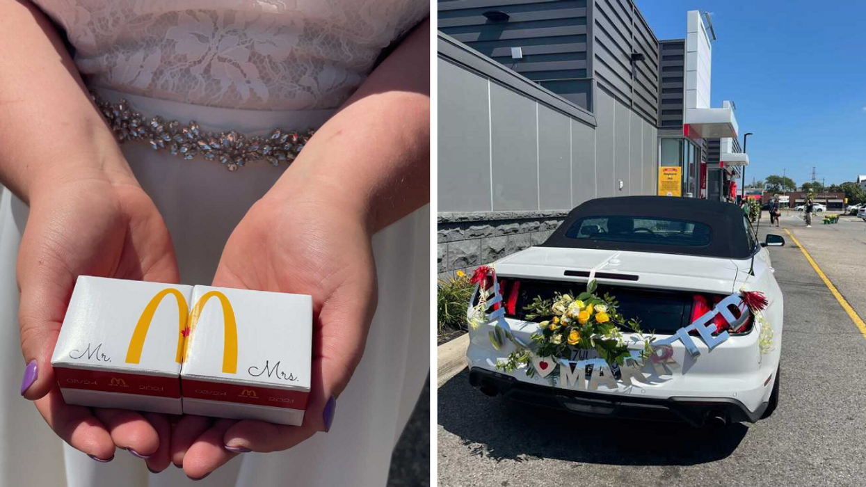 McDonald's Wedding In Ontario Happened Right At The Drive-Thru Window