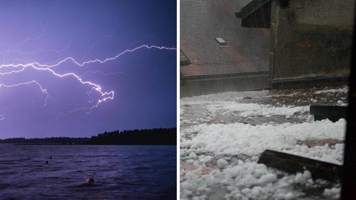 Des orages violents et de la grêle prévus en Gaspésie