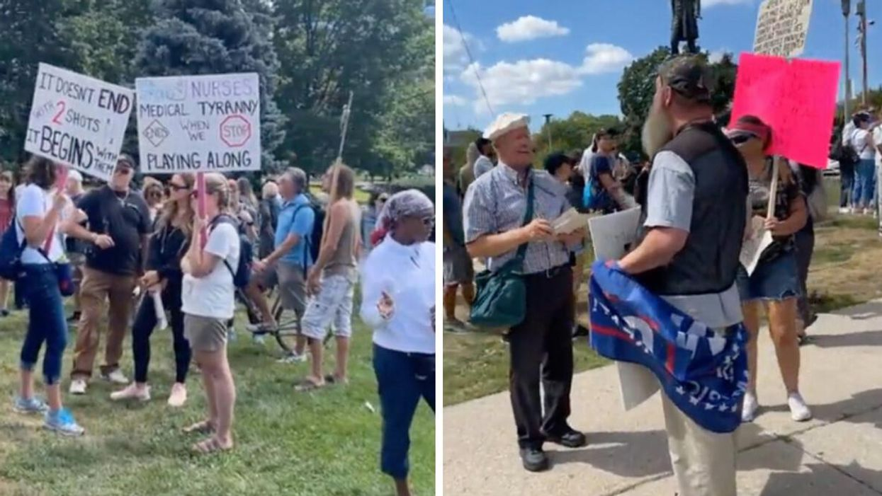 Ontario's Vaccine Certificate Announcement Sparks Protests At Queen's Park (VIDEO)