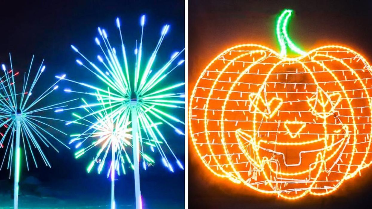 This Halloween Event Near Toronto Lets You Drive Through Dazzling Lights & A Pumpkin Tunnel
