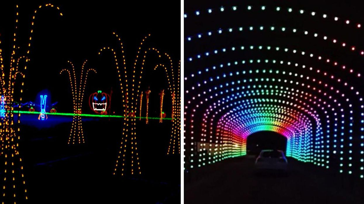 This Halloween Event Near Toronto Has Over 1 Million Lights & A Laneway Full Of Candy