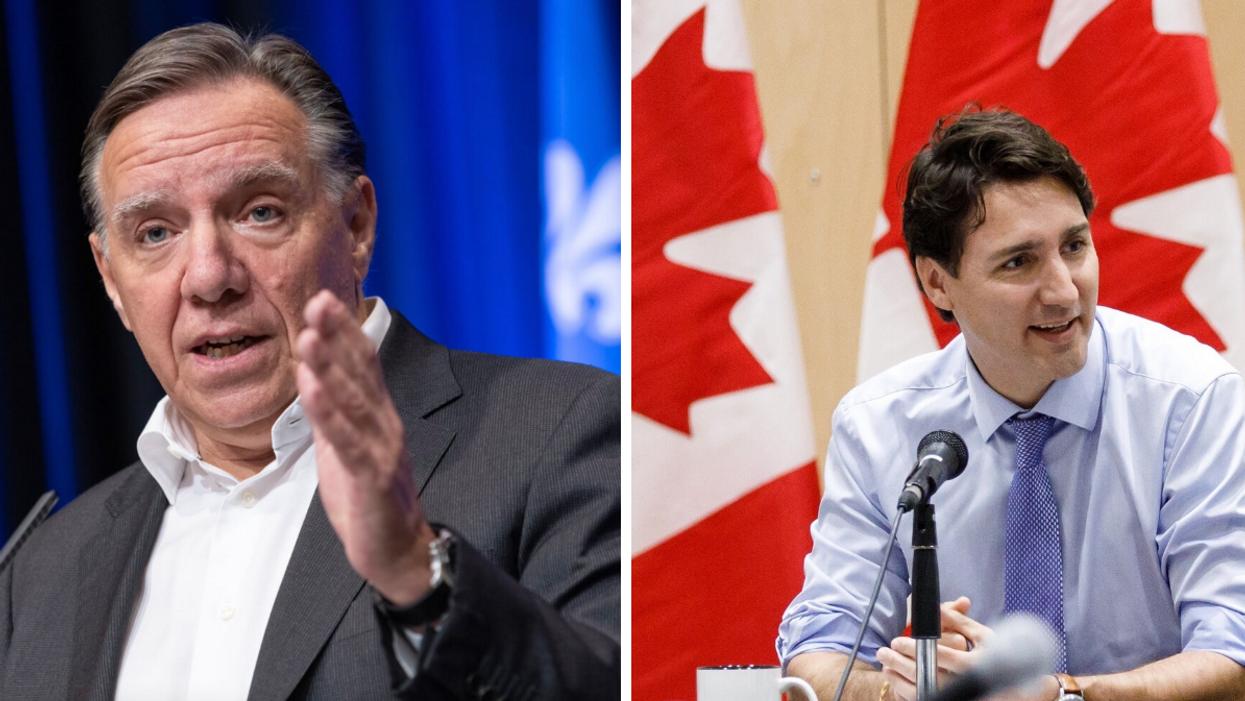 François Legault félicite Justin Trudeau pour sa victoire en 2 phrases