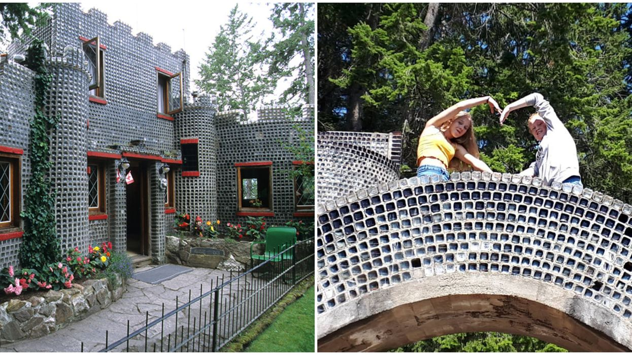 Glass Castle In BC Is Made With 500,000 Tiny Jars & It's Worth Finding This Summer