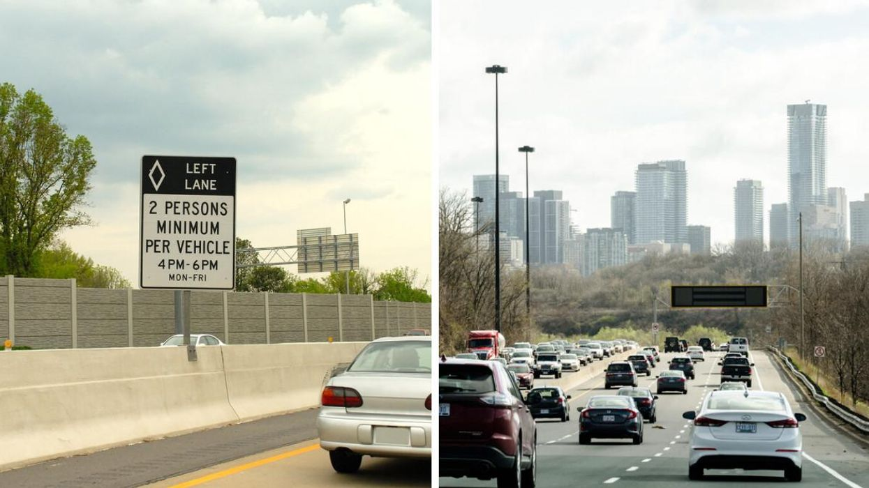Highway 400 In Ontario Just Got New HOV Lanes & Here Are The Rules (VIDEO)