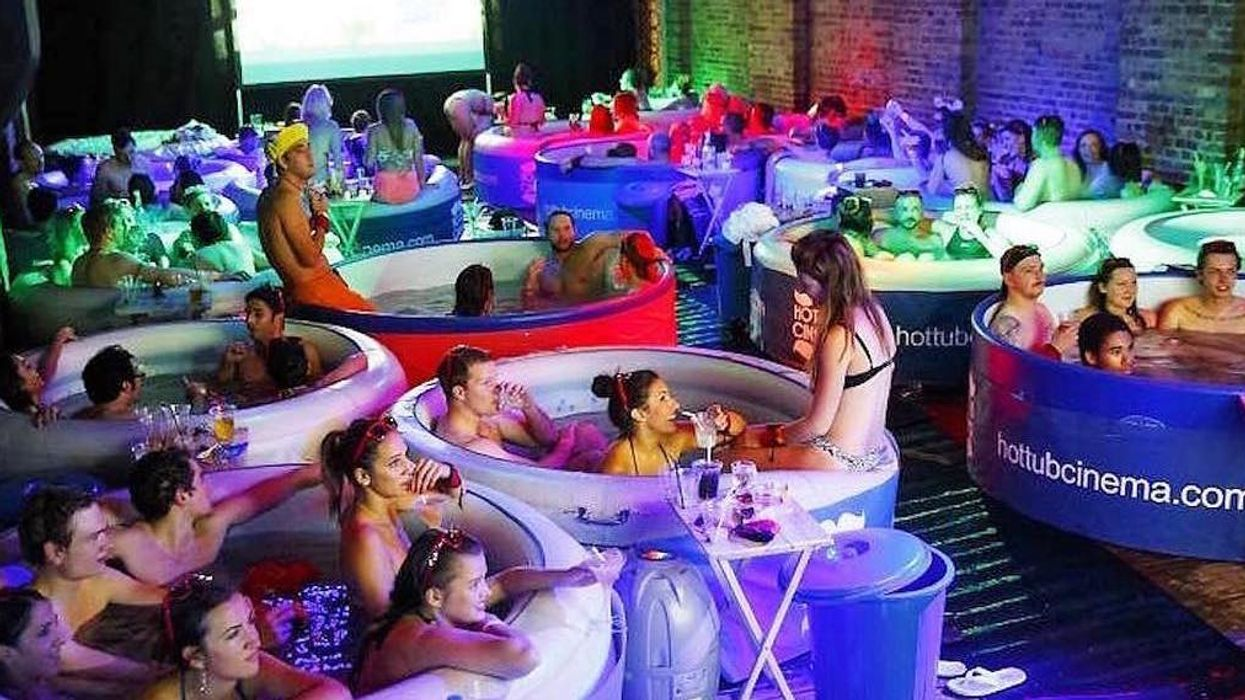 You Can Finally Get Tickets To Vancouver's First Ever Hot Tub Cinema Party