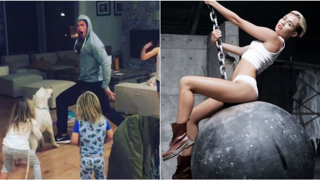 Chris Hemsworth Just Uploaded A Video Of Him Dancing To Miley Cyrus' Song Wrecking Ball And It's Hilarious (VIDEO)