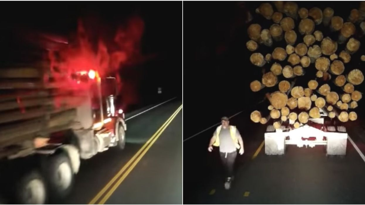 Two Canadian Truckers Got Into A Road Rage Screaming Match On A BC Highway And The Story Is Wild