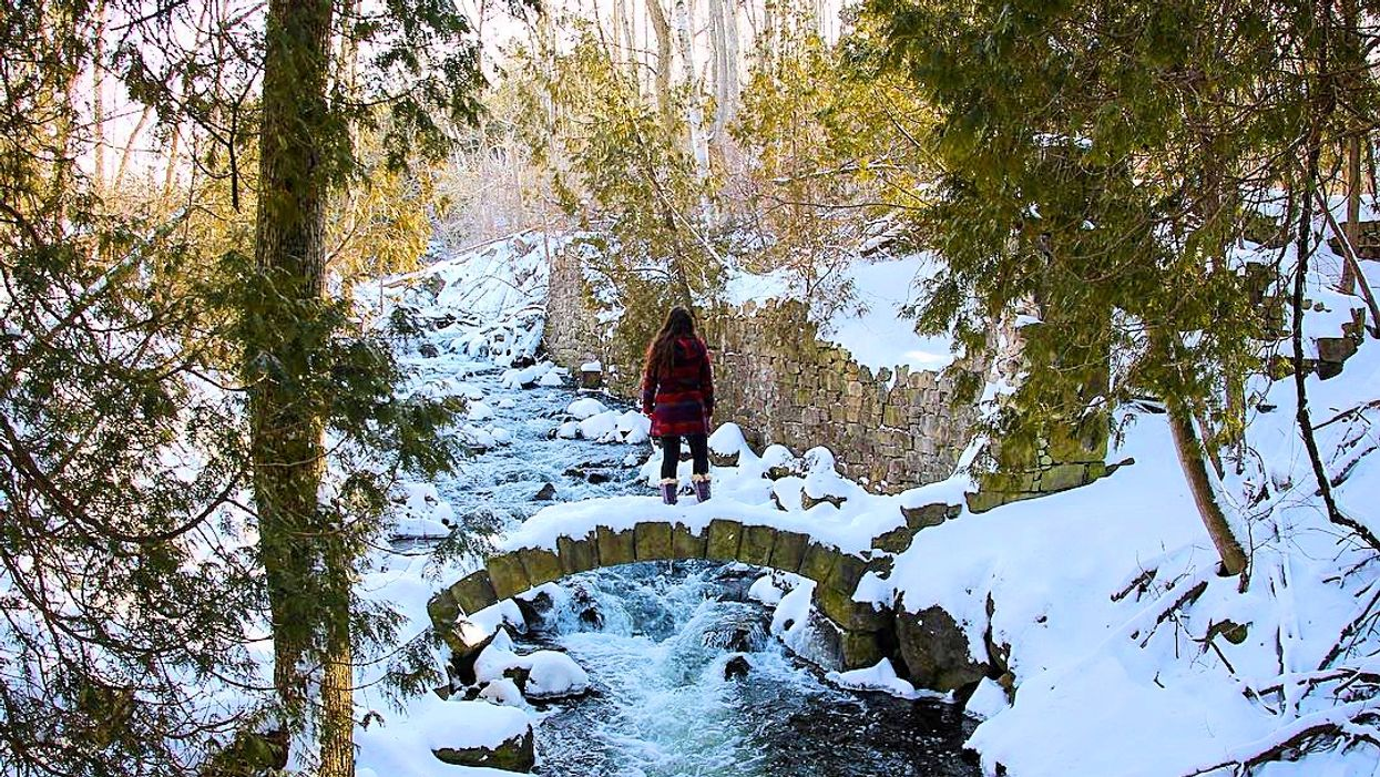 This 2.3 KM Winter Trail Will Lead You Past Caves And Stone Bridges Near Toronto