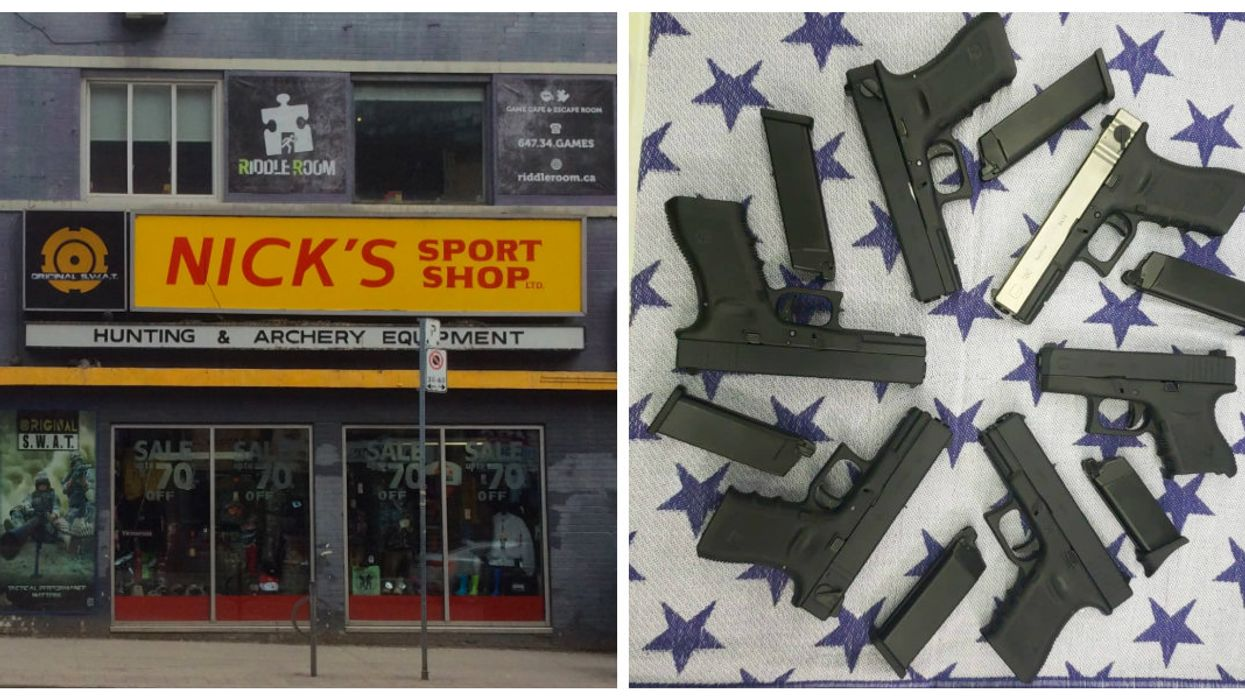 A Gun Shop In Downtown Toronto Is Promoting Handgun Sales Even Though They May Soon Be Banned In The City