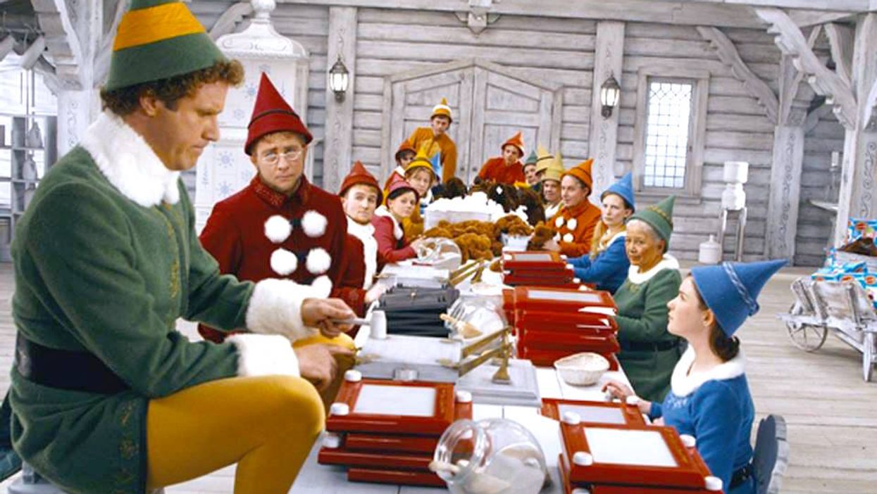 These Photos Show Exactly How They Made Will Ferrell Look So Tall In 'Elf'