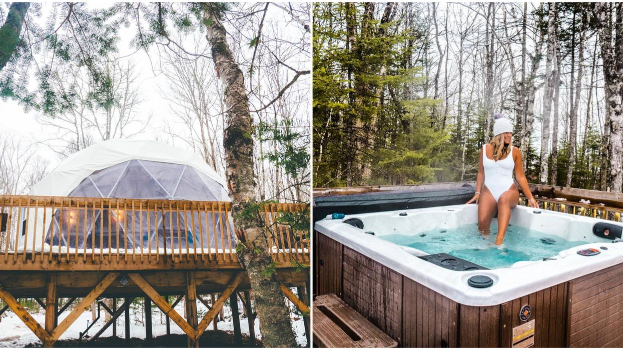You Can Stay In A Magical Forest Dome With Your Own Hot Tub In Canada