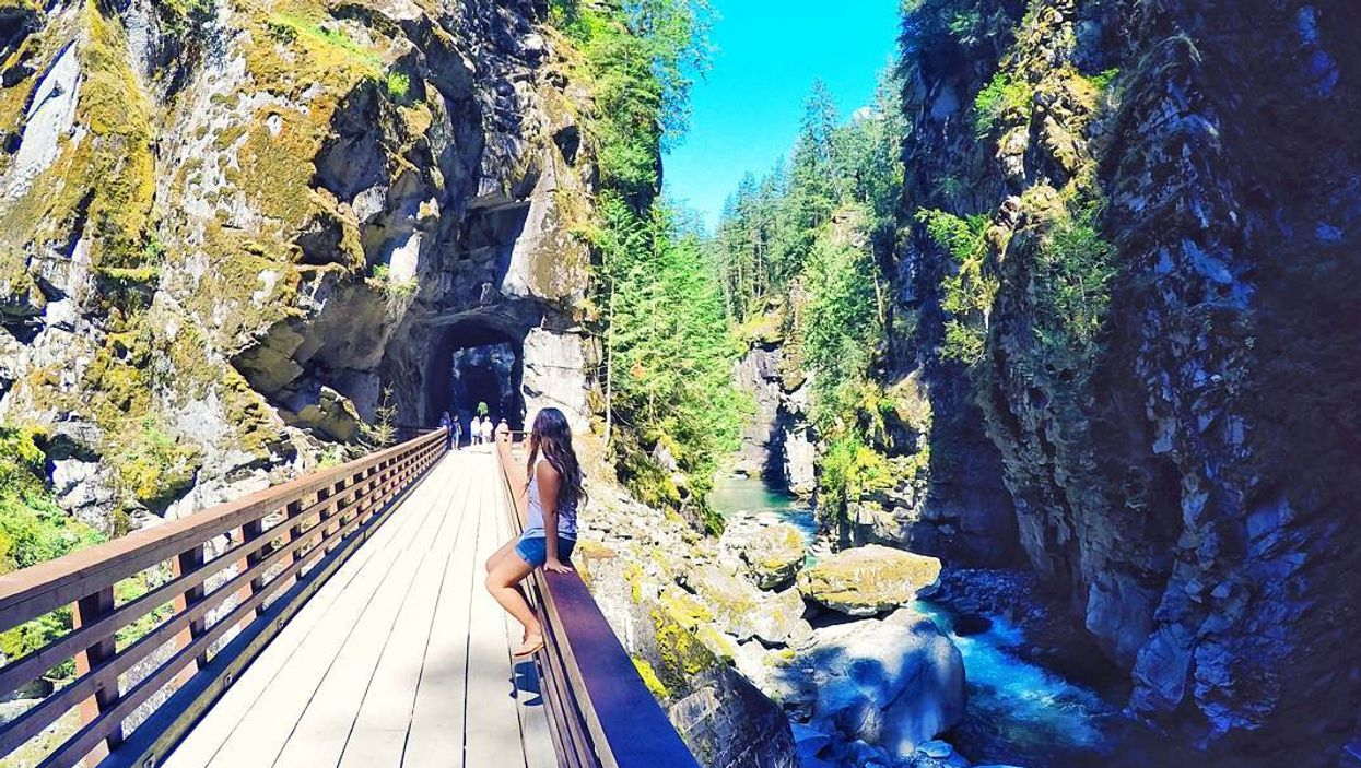 This 3.5 KM Hike Takes You Through Abandoned Train Tunnels In BC