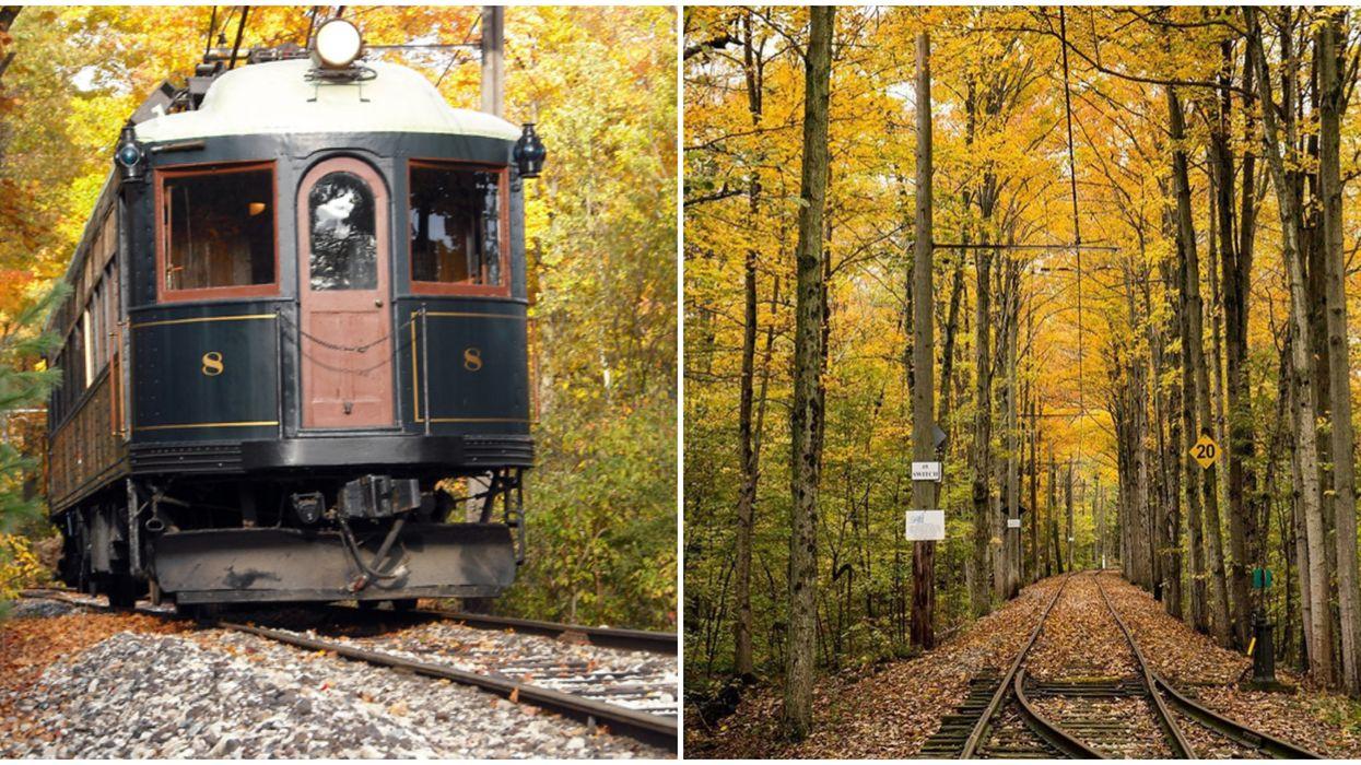This Vintage Ontario Streetcar Takes You Through Enchanting Leafy Trails This Fall