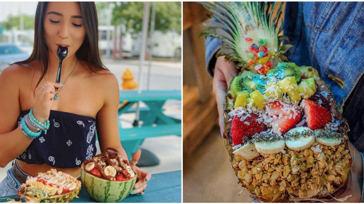 This Environmentally-Friendly Eatery In Miami Serves Their Food In Literal Fruit Bowls
