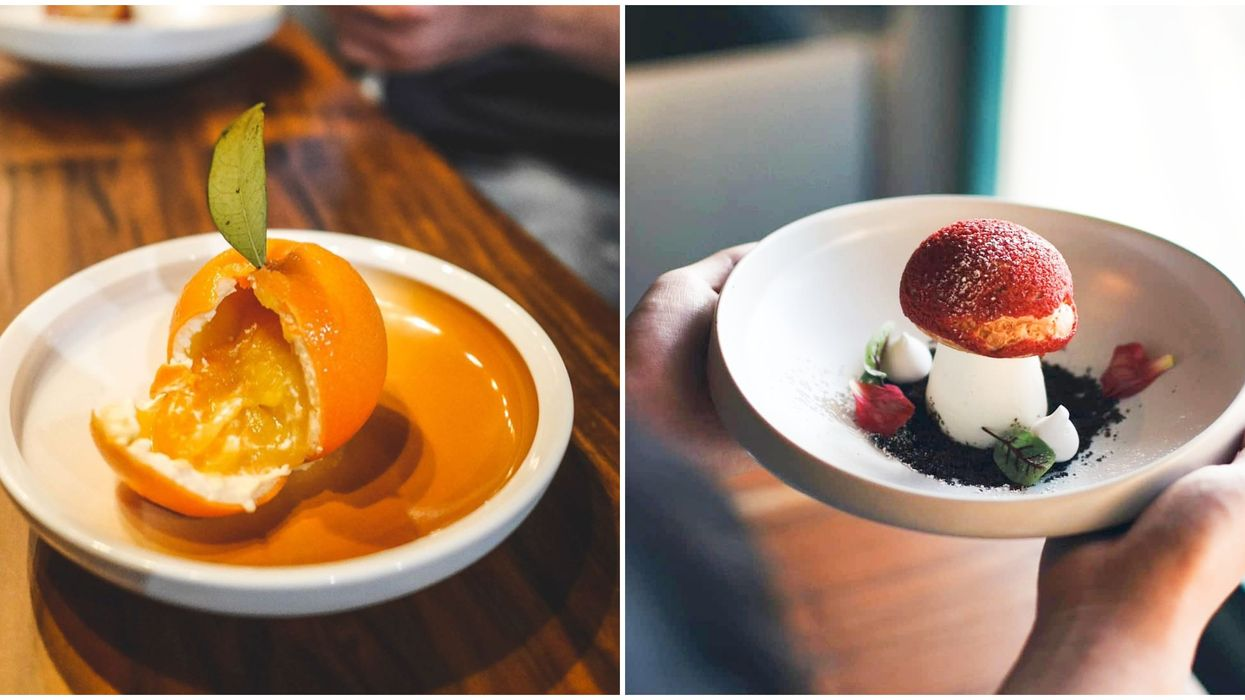 You Can Try Surreal Orange And Mushroom-Shaped Desserts At This Vancouver Cafe
