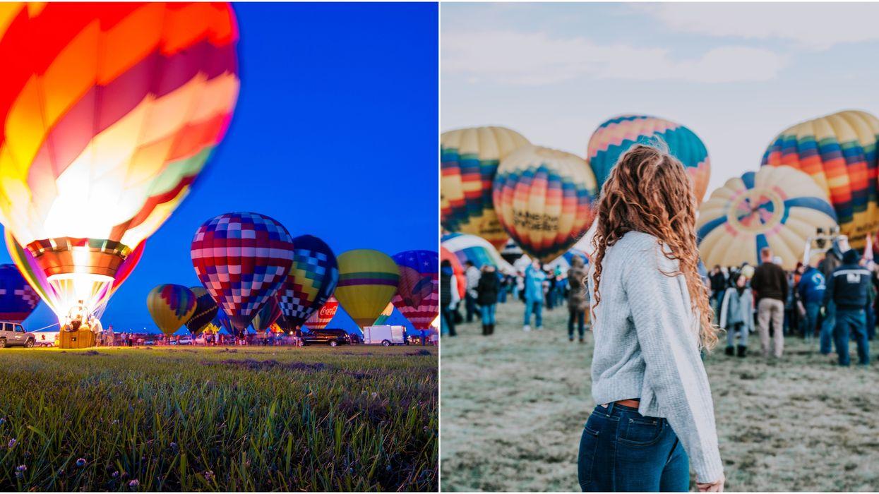 Este festival ofrecerá paseos nocturnos en globo aerostático en Palm Beach este mes