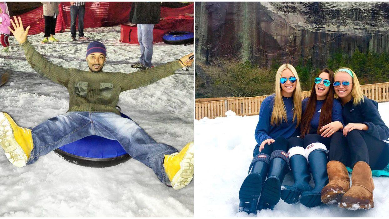 Snowing Tubing In Atlanta Is Super Fun At Snow Mountain