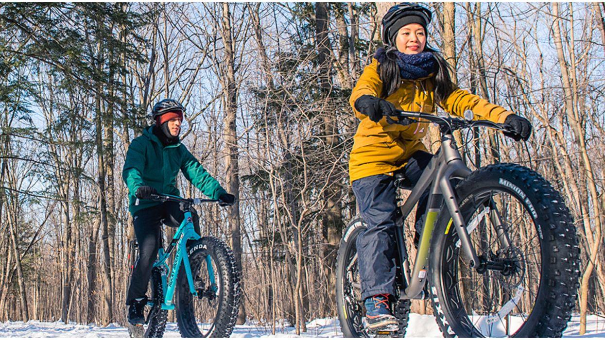 Tu peux faire du fatbike en pleine nature sans quitter l'île de Montréal cet hiver