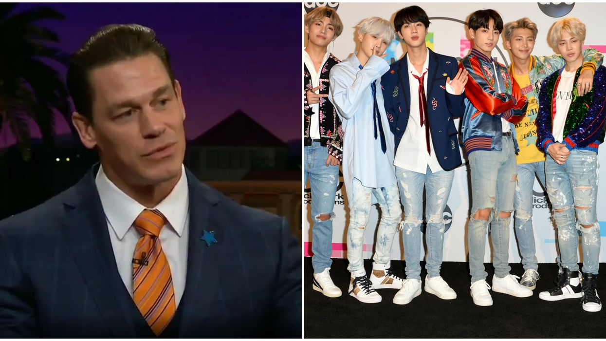John Cena Gushes About His Man Crush On Korean Pop Band BTS On The Late Late Show