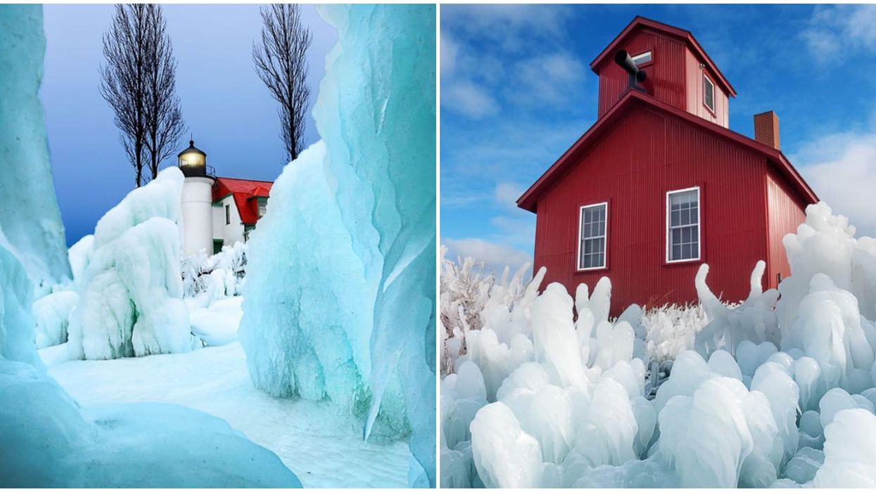 Michigan Lighthouse Has Ice Castles That Look Like Something Out Of Disney's 'Frozen'