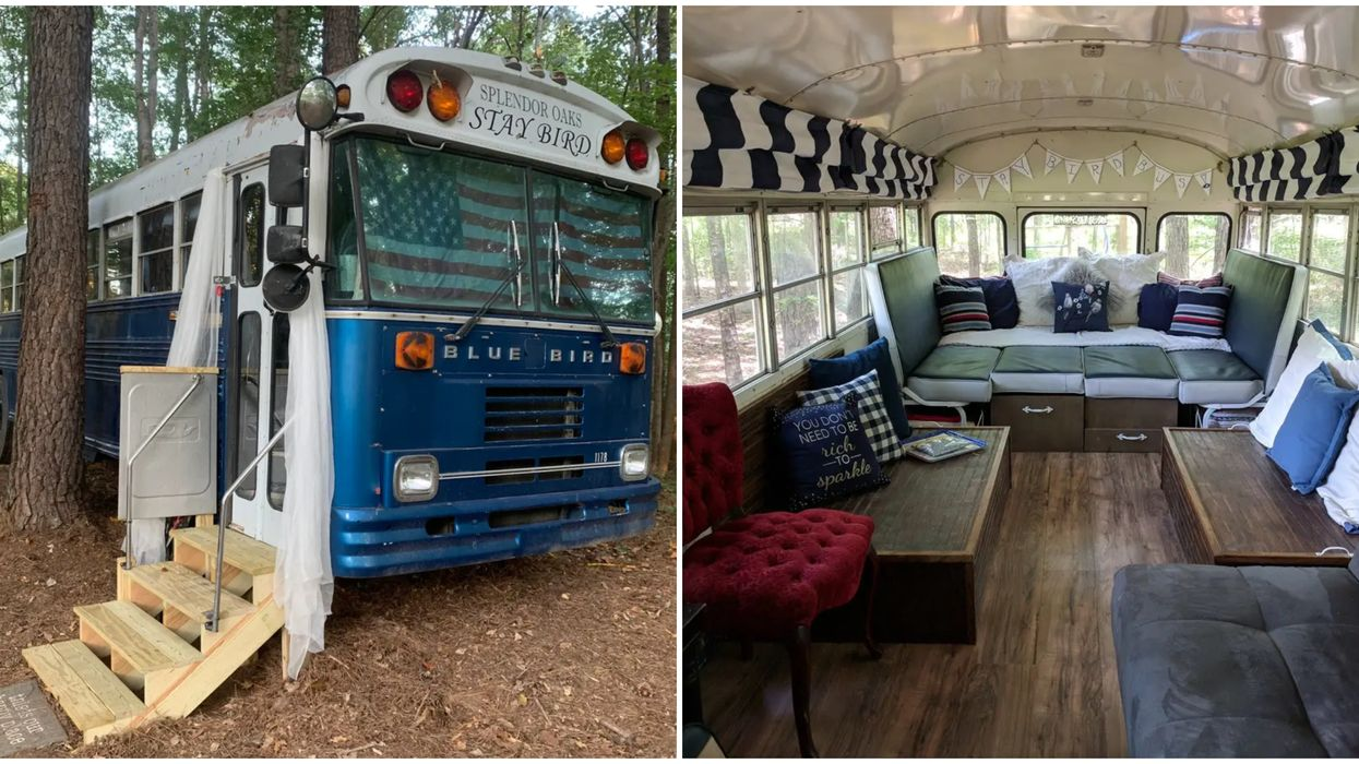 Glamping In Georgia Is Gorgeous At This School Bus Tiny Home Airbnb