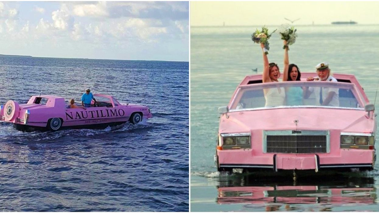 Cruises In Florida Include Nautilimo's Pink Caddy Boat Tours Through The Keys