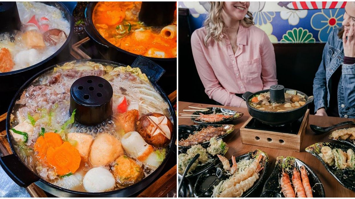 Calgary Hot Pot Joint Serves Up Massive Personal Hot Pots & They're Super Cheap