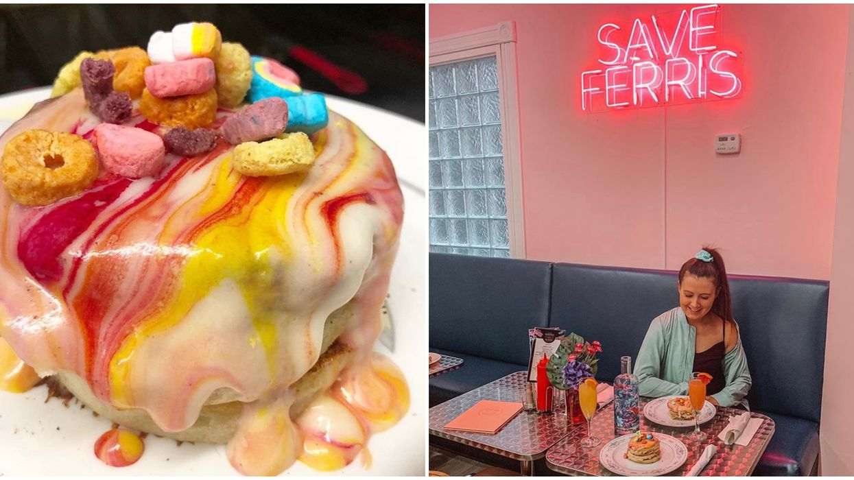 Ontario's Electric Diner Has Rainbow Lucky Charms Pancakes & So Much Nostalgia