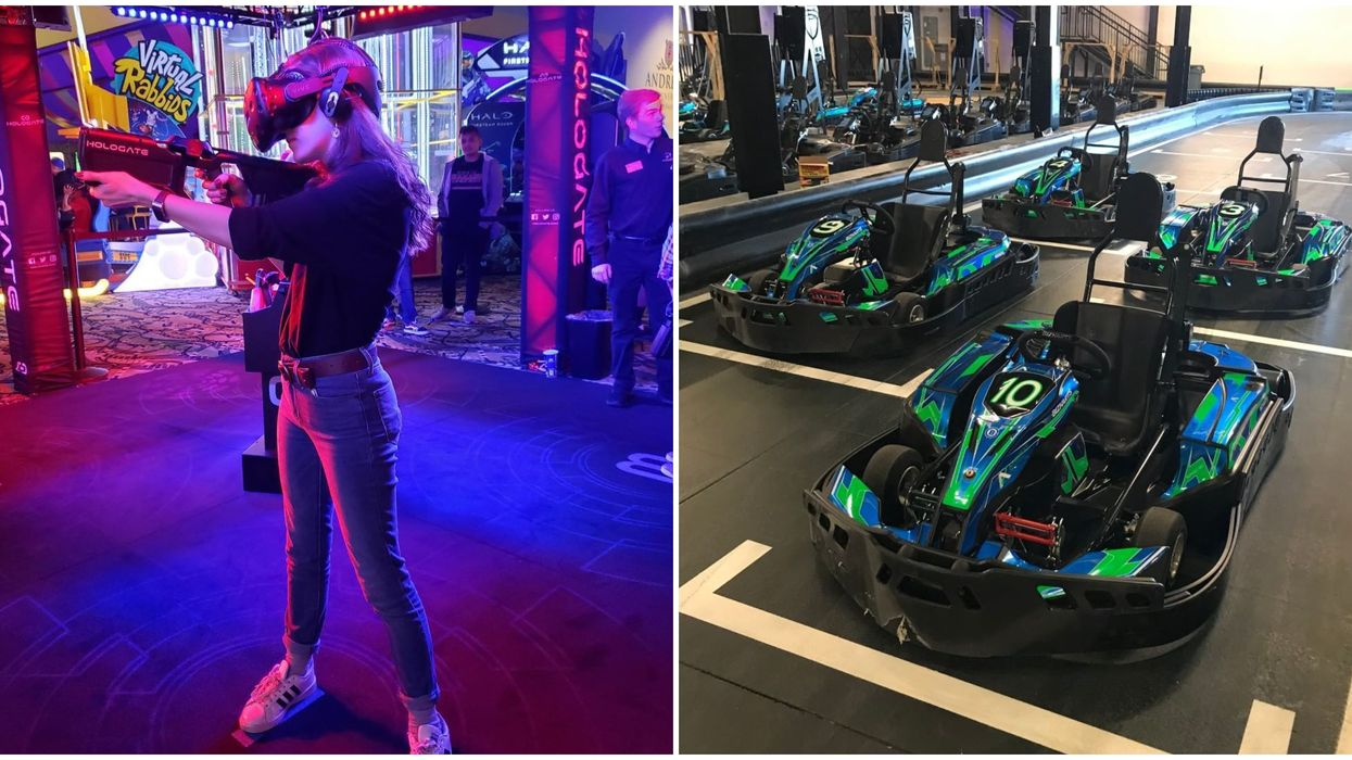 Houston's Massive New Go-Kart Track Is In The Coolest Arcade Center