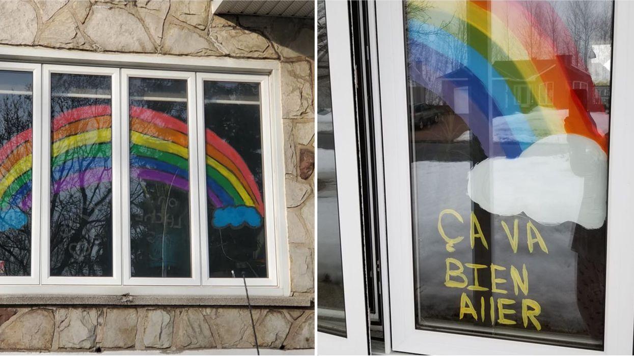 Voici pourquoi les Québécois affichent des arcs-en-ciel dans leurs fenêtres