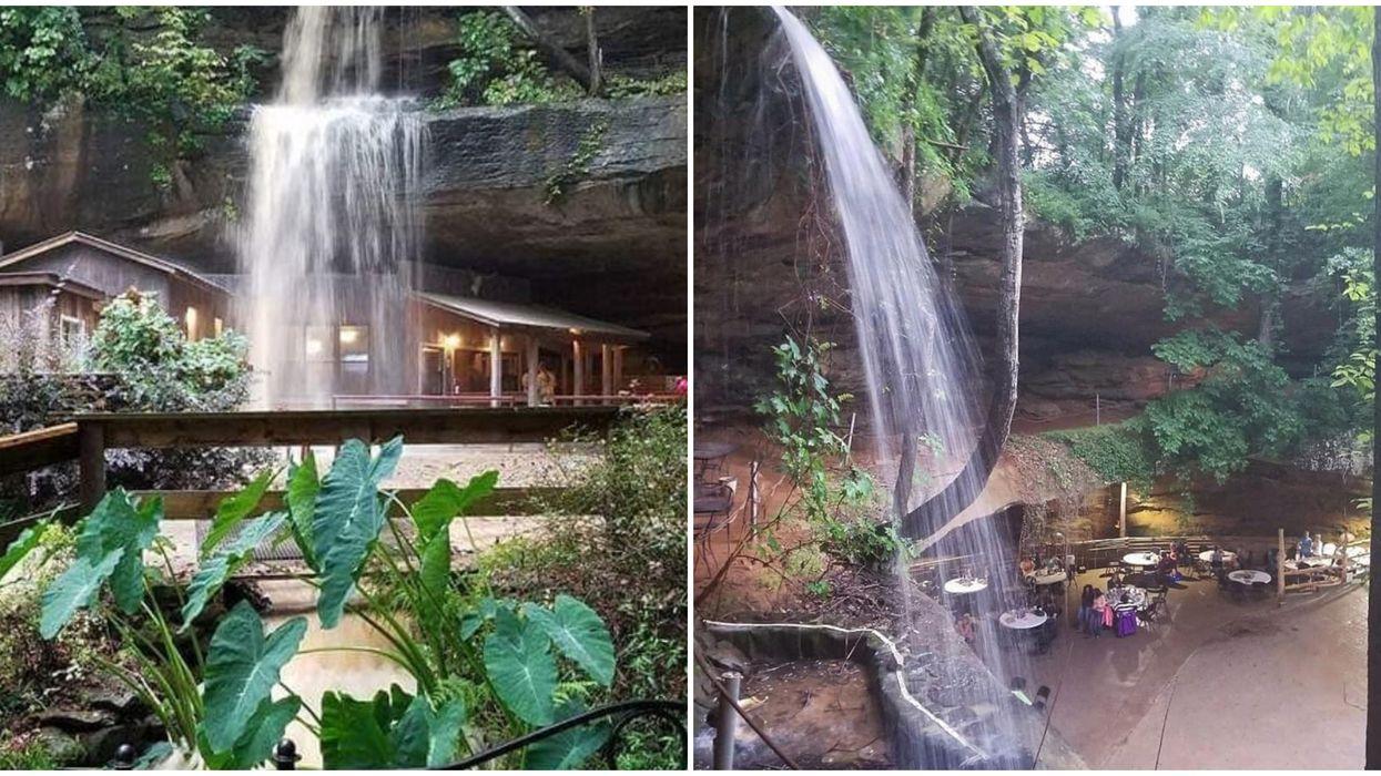 Alabama Bar Rattlesnake Saloon Is Hidden Under A Waterfall In A Cave Bluff
