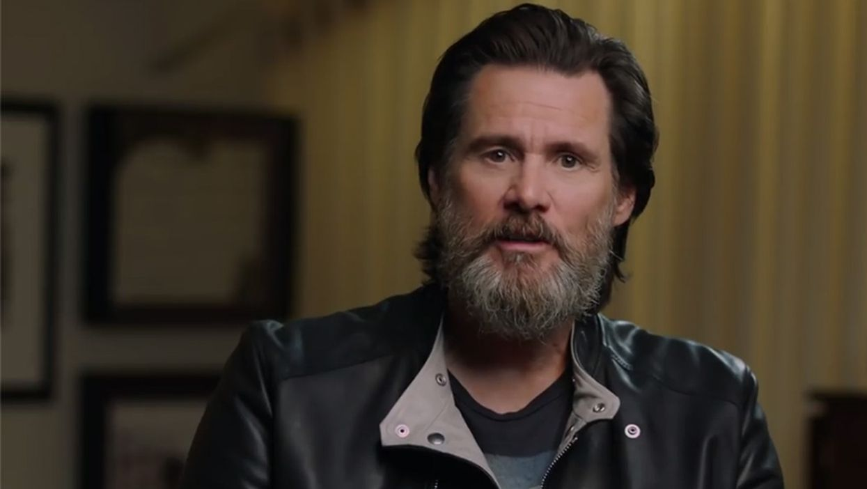 The beard is here! Back in March, Jim Carrey shared that he would be documenting the growth of his facial hair while out of work during social isolation. As he's about to near day 50, the actor shared his first update in over a month and even wrote a sweet shoutout to his mom on Mother's Day.