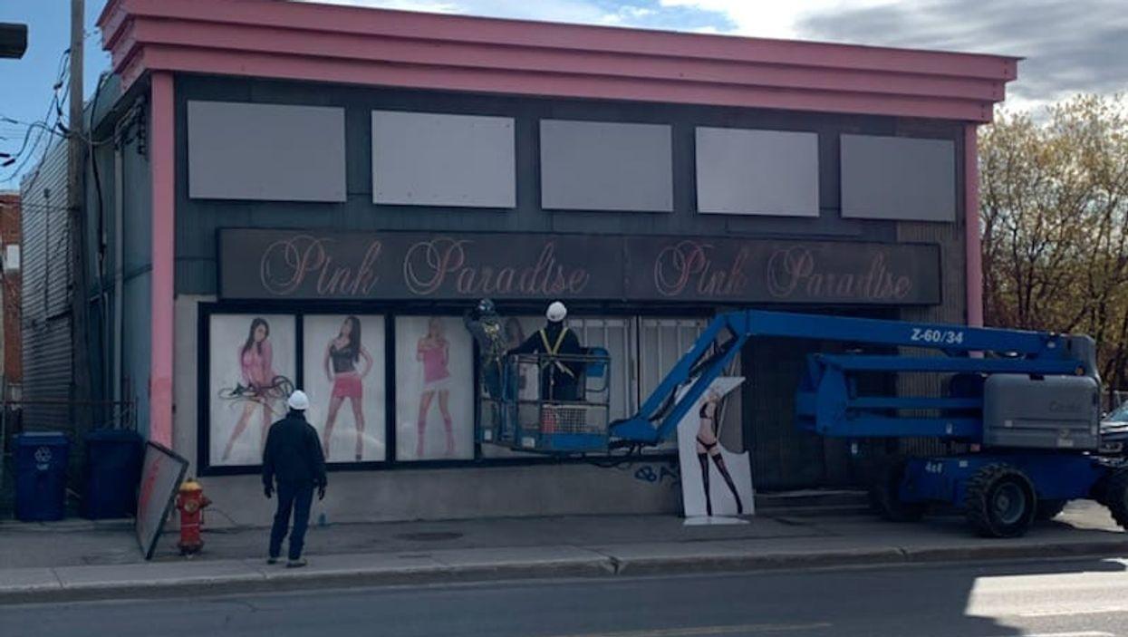 La démolition du célèbre club Pink Paradise à Laval finalement commencée