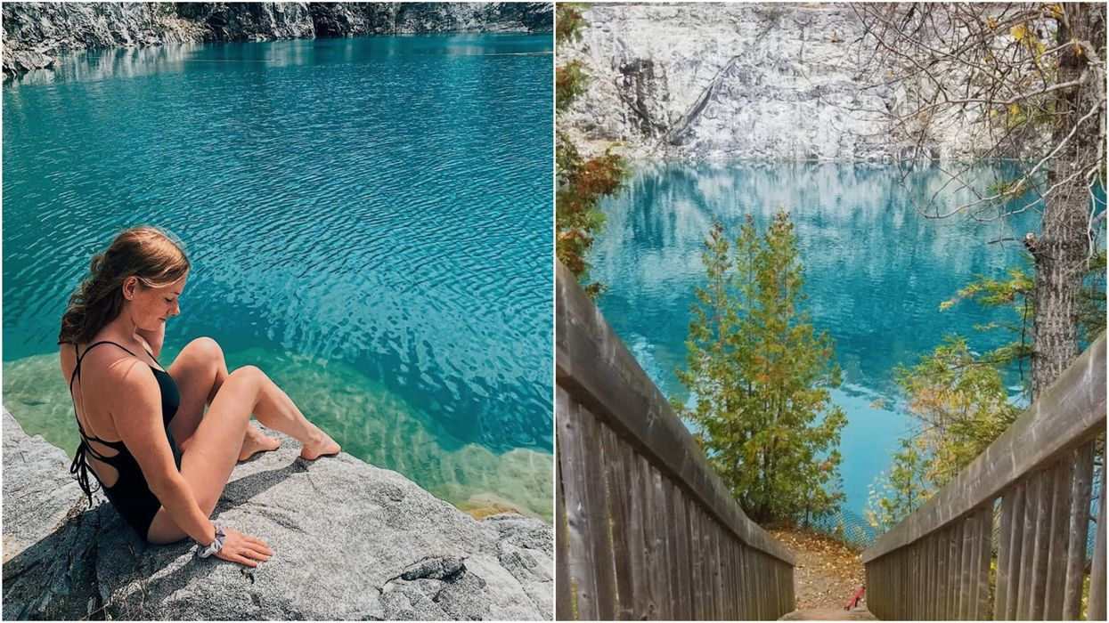 Swimming Hole Near Ottawa Has Bright Turquoise Waters & It's The City's Biggest Secret
