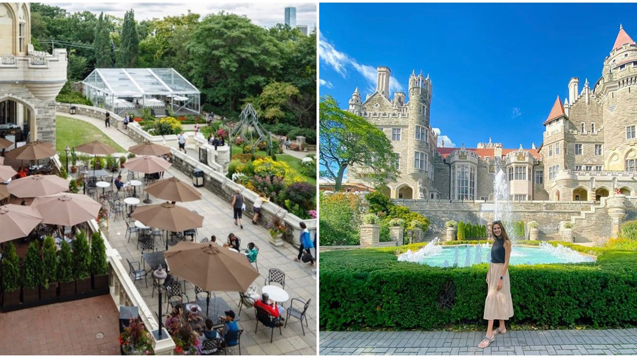 You Can Dine Like A Princess At Casa Loma's New Garden Patio This Summer