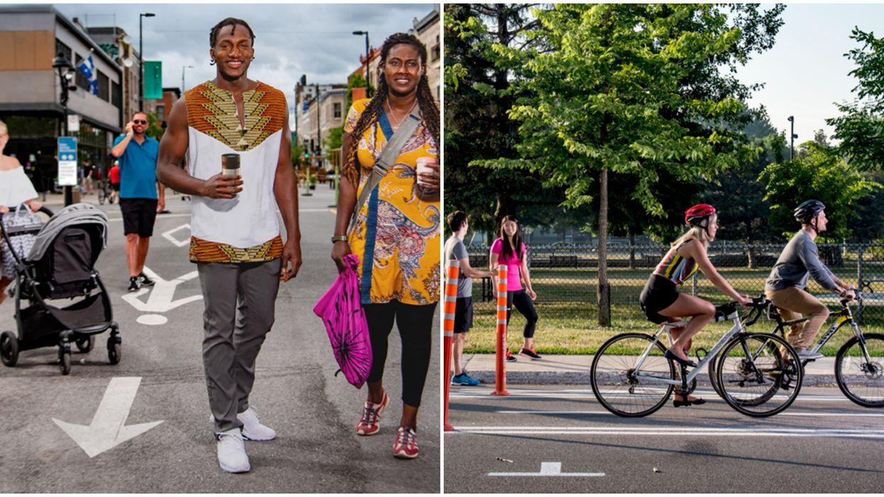 De nouvelles voies piétonnes et cyclables mises en place pour faciliter la distanciation physique cet été