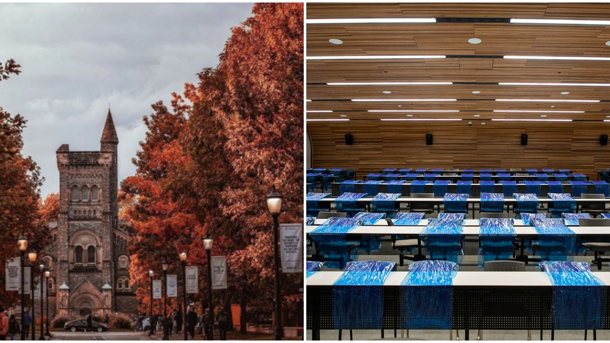 The University of Toronto's Fall Safety Plan Includes Plastic-Wrapped Desks And Chairs
