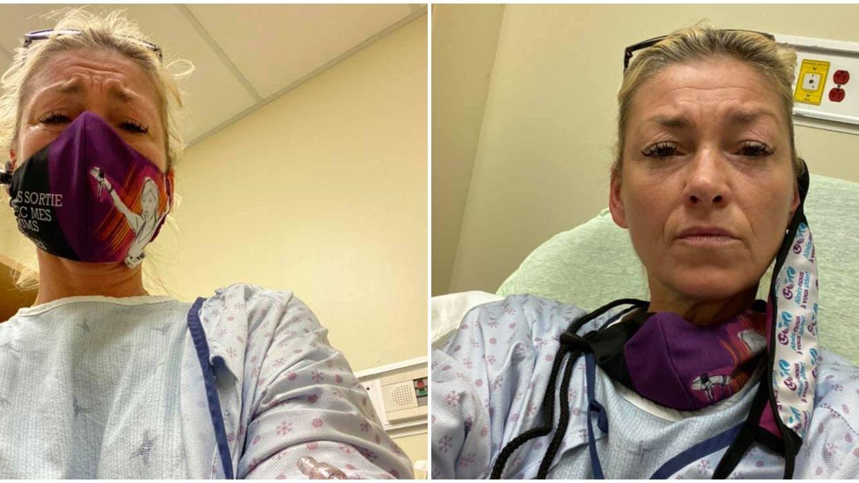 Marie-Chantal Toupin se retrouve aux urgences à cause d'une blessure au diaphragme