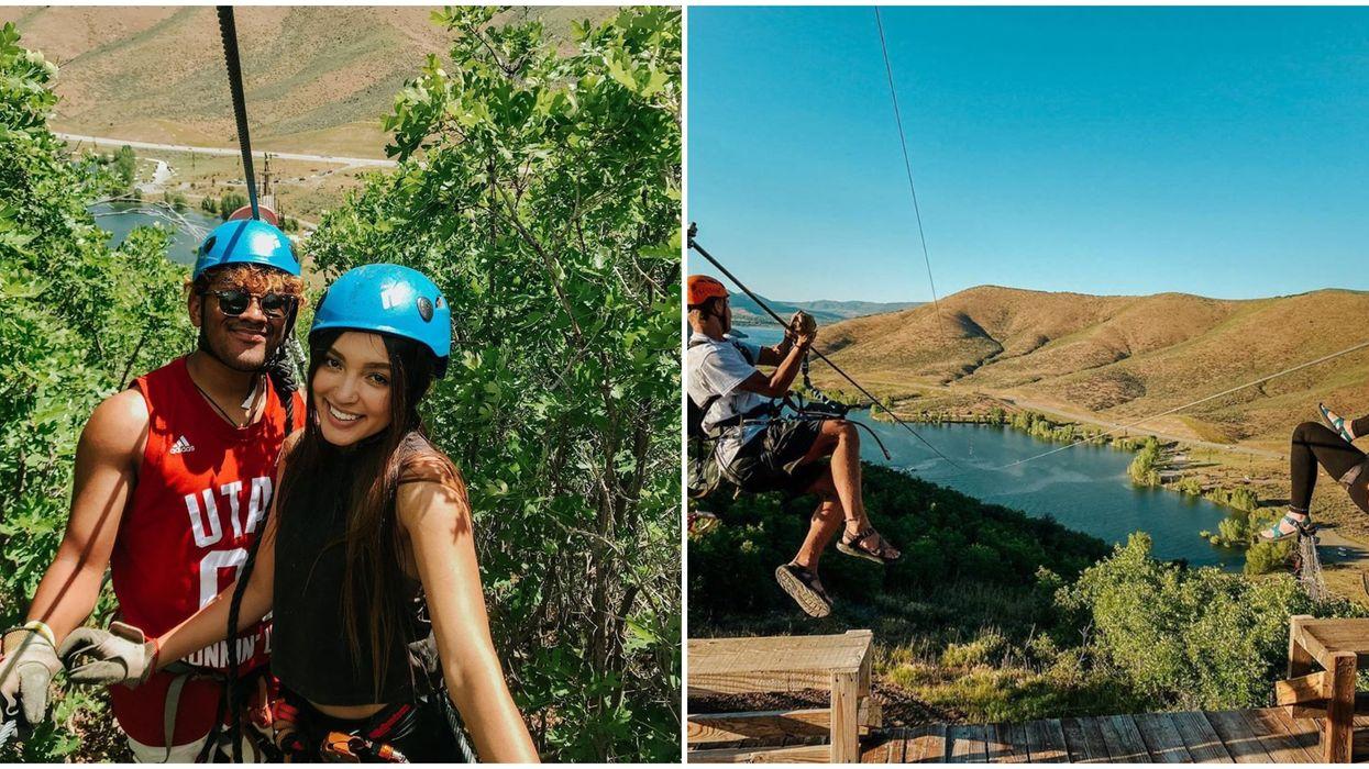 Zipline Utah Lets You Soar High Above The Ground Between Different Zip Lines