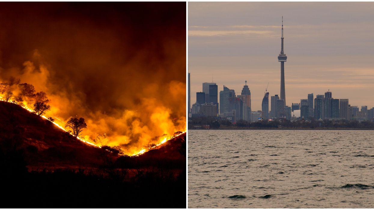 California Wildfire Smoke Is Making Its Way To Ontario Skies This Week